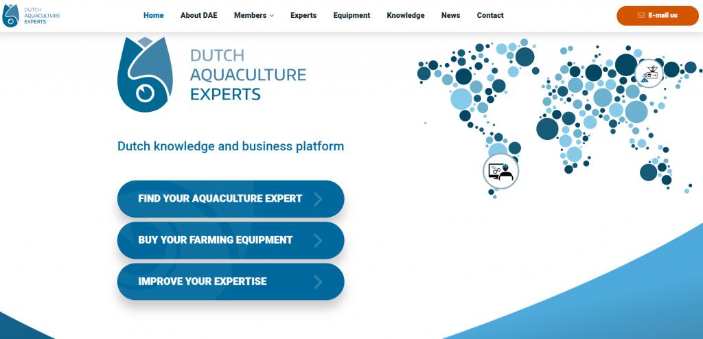 Dutch Aquaculture Experts website nieuwe website vullen webteksten contentbeheer